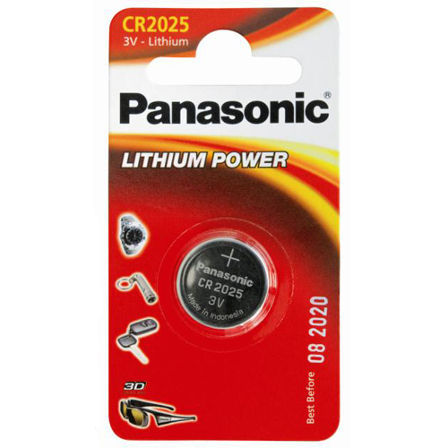 Battery 3V Lithium Panasonic Coin Cell - CR2025 Pack Of 1