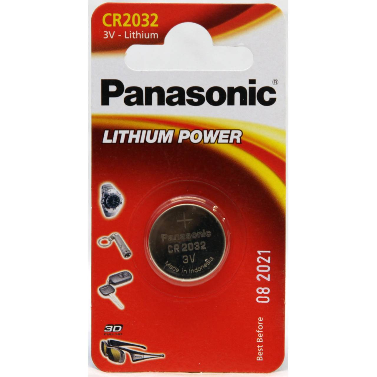 Battery 3V Lithium Panasonic Coin Cell - CR2032 Pack Of 1