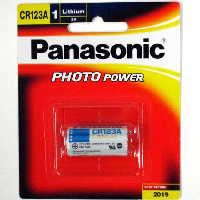 Battery 3V Lithium Panasonic CR123A - Pack Of 1
