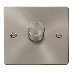 1 Gang 2 Way 400W Click Define Dimmer Switch Brushed Stainless Steel FPBS140
