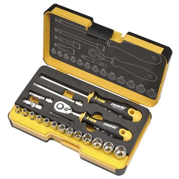"Felo R-GO 1/4"" 19 Piece Ratchet & Socket Tool Set 