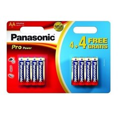 Panasonic ProPower 1.5V AA Batteries LR6 4+4 Pack LR6PPG/8BW 4+4F