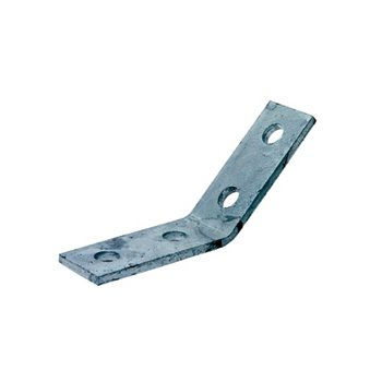 Unistrut Angle Bracket Fitting 45° Obtuse Galvanised (4 Holes) P1074