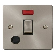 Click Define Decorative Flat Plate Double Pole Switch With Neon. FPBS523BK