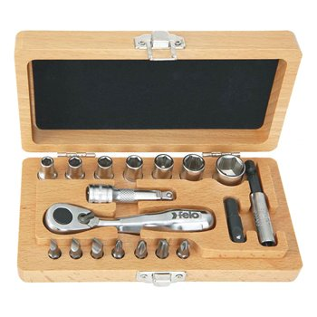 Felo XS Classic 18 Piece Ratchet & Socket Set-Pocket Size | 057 718 66