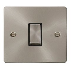 1 Gang Click Intermediate Switch 2 Way 10A Brushed Stainless Steel FPBS425BK