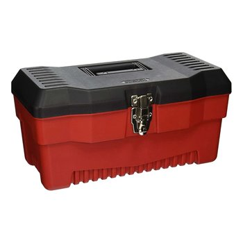 "16"" Multi Purpose Stack-On Tool Box Rugged Polymer Black/Red PR16"