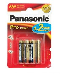 Panasonic Battery 1.5V AAA Alkaline 4 Pack + 2 Free- LR03PPG/6BP 4+2F