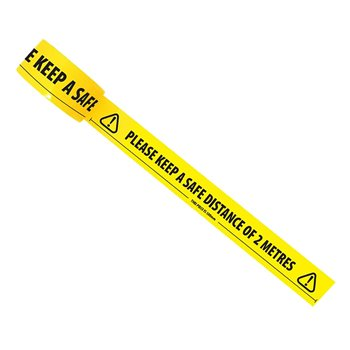 Yellow Tape for Social Distancing Marking COV19TAPE