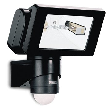 Steinel HS150 DUO 150W Sensor Switched Halogen Flood Light  240° 12m BLACK