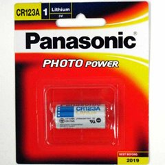 Panasonic Battery 3V Lithium CR123A - Pack Of 1