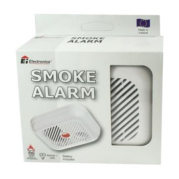 Ionisation Smoke Alarm 9V Battery Powered Ei100B
