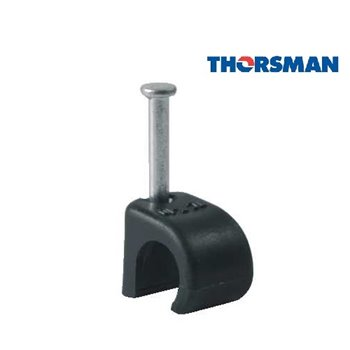 7 - 10mm TC710B Round Cable Clips Black - 2032041