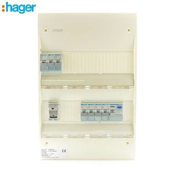 Hager Consumer Unit 2 Row 24 Mod C/W Door & Backplate IP30 SBE800