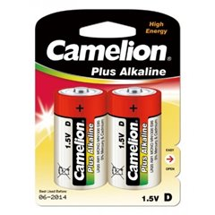 Camelion LR20-BP2 D 1.5V Alkaline Battery 2 Pack