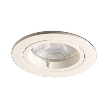50w Fixed Downlight White Lock Ring GU10 Die Cast Luceco EDLGUFWH