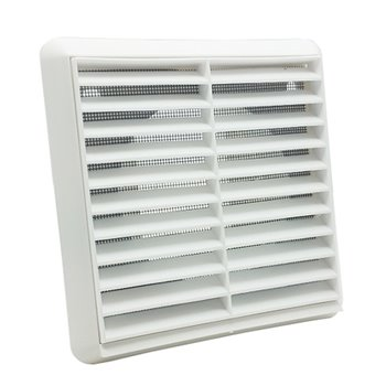 125mm Easi Vent Wall Outlet Louvered Grille With Round Spigot VKC268W