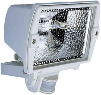 Steinel HS 5140 500W 140° Degree 12m Halogen Sensor Switched Outdoor Flood Light WHITE