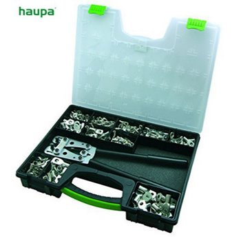 Haupa 290380 Crimping Tool Assortment C/W 380 Cable Lugs/Terminals 6-50mm