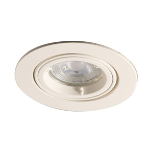 ADJUSTABLE DOWNLIGHT WHITE LOCK RING GU10 DIE CAST LUCECO EDLGUAWH