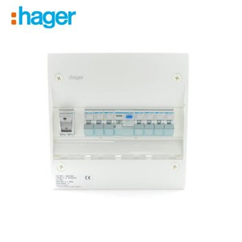 Hager Consumer Unit 1 Row 12 Mod C/W Door & Backplate IP30 SBE700