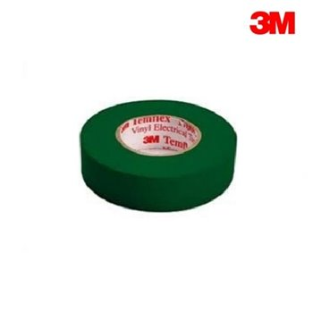 3M Temflex 1500 GREEN PVC Electrical Insulation Tape 20m Roll (19mm x 0.15mm)