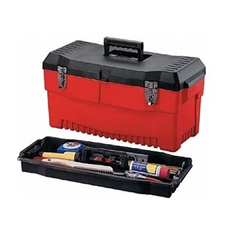 "19"" Stack-On Pro Tool Box Rugged Polymer Black/Red PR19"