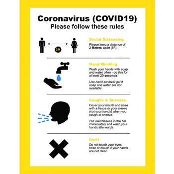 Good Practice Instruction Poster Yellow Non-Adhesive A2 CVOPY