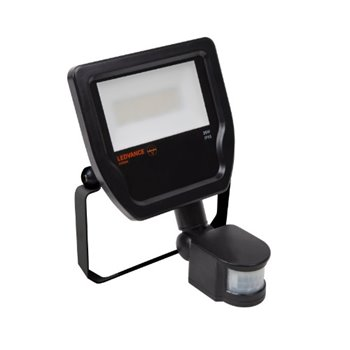 20W LEDVANCE LED Floodlight 4000K C/W Pir Sensor IP65 Black - 4058075814691