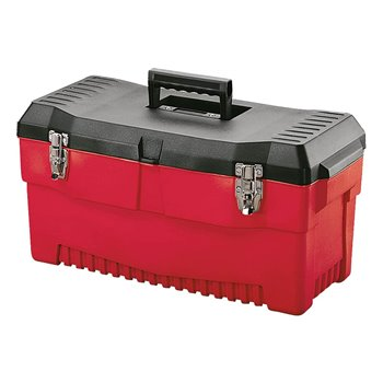 "23"" Stack-On Pro Tool Box Rugged Polymer Black/Red PR23"