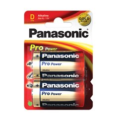 Panasonic ProPower 1.5V D Alkaline Batteries LR20 2 Pack - LR20PPG/2BP