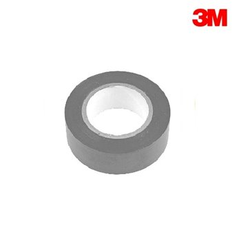 3M Temflex 1500 GREY PVC Electrical Insulation Tape 20m Roll (19mm x 0.15mm)