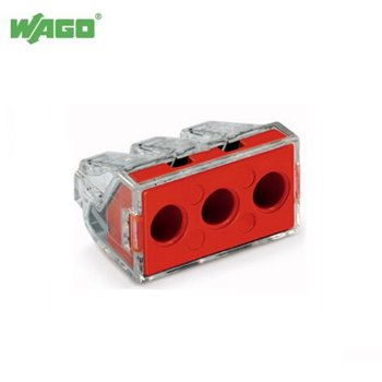 41A 3 Way WAGO PUSH WIRE® Connectors 2.5mm - 6.5mm² 773-173