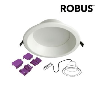 Robus 22W Inspire Activate IP20 Downlight RNS02240-01 WHITE DOB 4000K Cool White