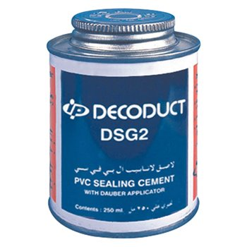 Decoduct - PVC Solvent Cement With Aplicaror 250ml (1/4 Litre) - DSG2