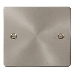 1 Gang Brushed Stainless Steel Click Define Blank Plate FPBS060