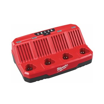 Milwaukee M12-C4 4 Bay Sequential Charger 4932430555