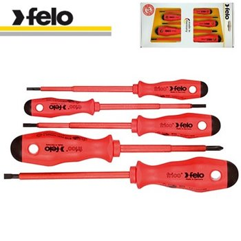 Felo Series 500 5 Piece Screwdriver Set Slot / Pozidriv 513 951 98
