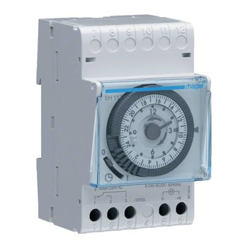 Time Switch Daily Cycle/24 Hour With Reverse 230v 16A 228111 Hager EH111