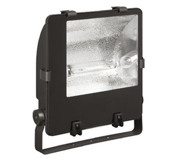 Floodlight 70W Son Complete with Lamp Black Polycarb Halo