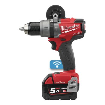 Milwaukee M18 ONEPD ONE-KEY™ FUEL™ Percussion Drill C/W 2 x 5.0Ah Batteries/Charger/Case 4933451148