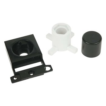Click Scolmore Dimmer Module Mounting Kit (Twin Width) Black MD150BK