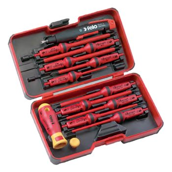 Felo 14 Piece E-SMART Industry Box Screwdrivers & Cabinet Key | 063 913 16