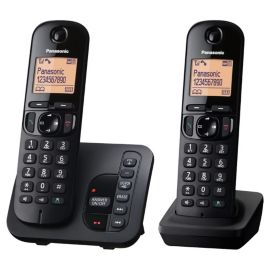 Panasonic Digital Cordless Phone - W/Ans Machine - Twin KXTGC222EB